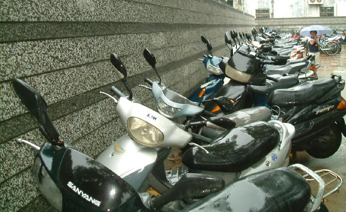 Scooter parking in Taiwan