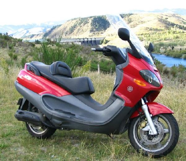 Larger Piaggio X9 scooter suitable for long distance touring