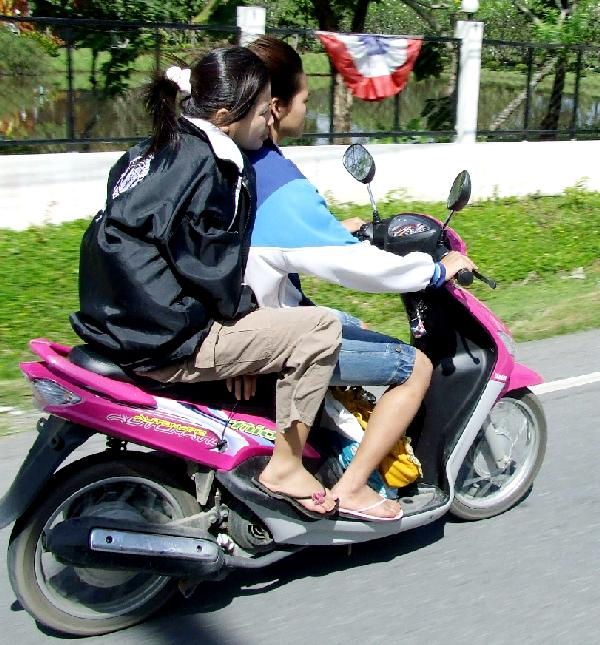 Togetherness on a Scooter
