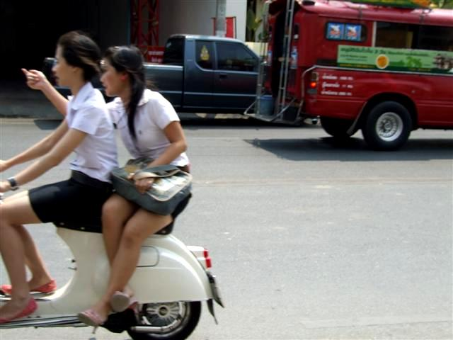 A more relaxed attitude to occupying the pillion seat