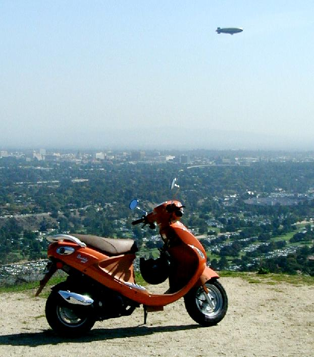 I'd rather be scootering than at the Rose Bowl game