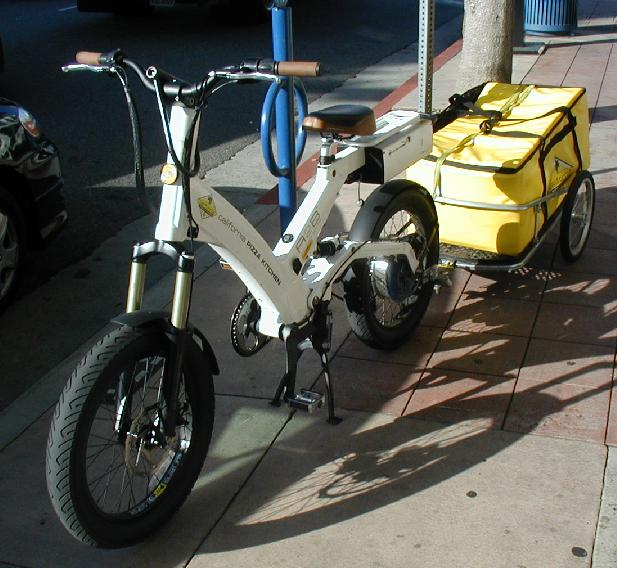Scooter with cargo trailer